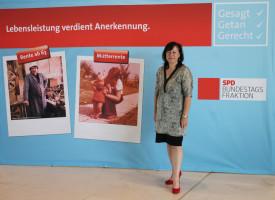 Bärbel Kofler im Reichstagsgebäude in Berlin zum Thema Rente