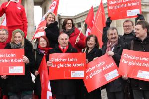 Bärbel Kofler mit Kolleginnen und Kollegen der SPD-Bundestagsfraktion