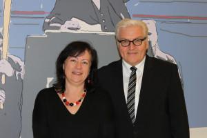 Bärbel Kofler mit Bundesaußenminister Frank-Walter Steinmeier