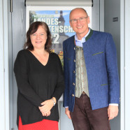 Bärbel Kofler im Gespräch mit Oberbürgermeister Christian Kegel