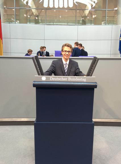 Jonas Pistor, Jugend und Parlament Teilnehmer 2015