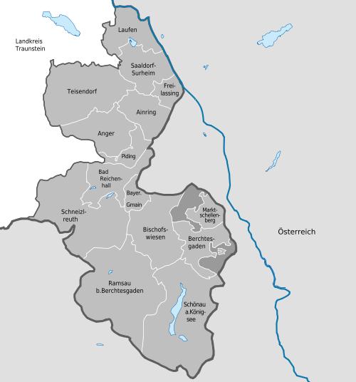 Landkreiskarte Berchtesgadener Land