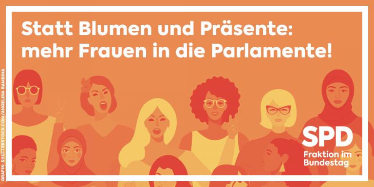 Mehr Frauen in die Parlamente