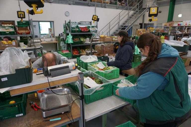 Die fleißigen Mitarbeiter in der Chiemgau-Kiste