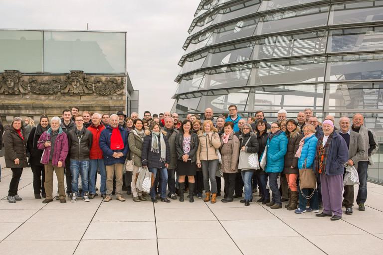 Reisegruppe in Berlin