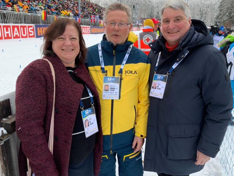 Mit Sepp Konhäuser beim Biathlon in Ruhpolding